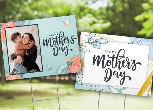 Custom mother's day yard sign